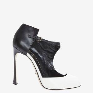 SERGIO ROSSI Peep-Toe Colorblock Sandals